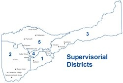 Supervisorial Districts map