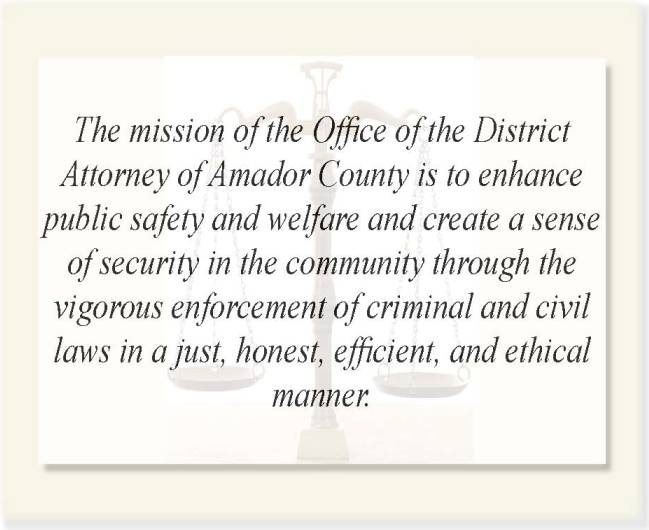 Mission Statement  Amador County