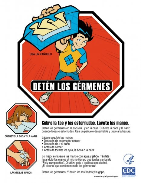 Germ Buster Poster - Spanish