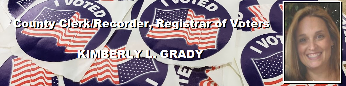COUNTY CLERK/RECORDER, REGISTRAR OF VOTERS